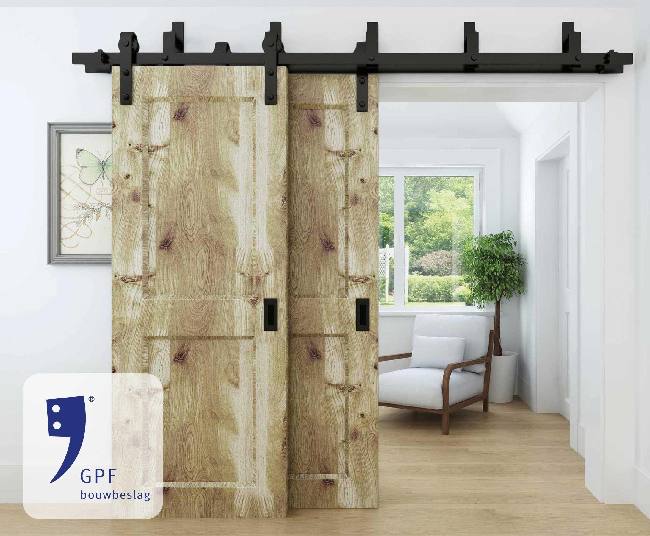 GPF Dubbel Schuifdeursysteem in zwart