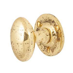 Antiek messing deurknop