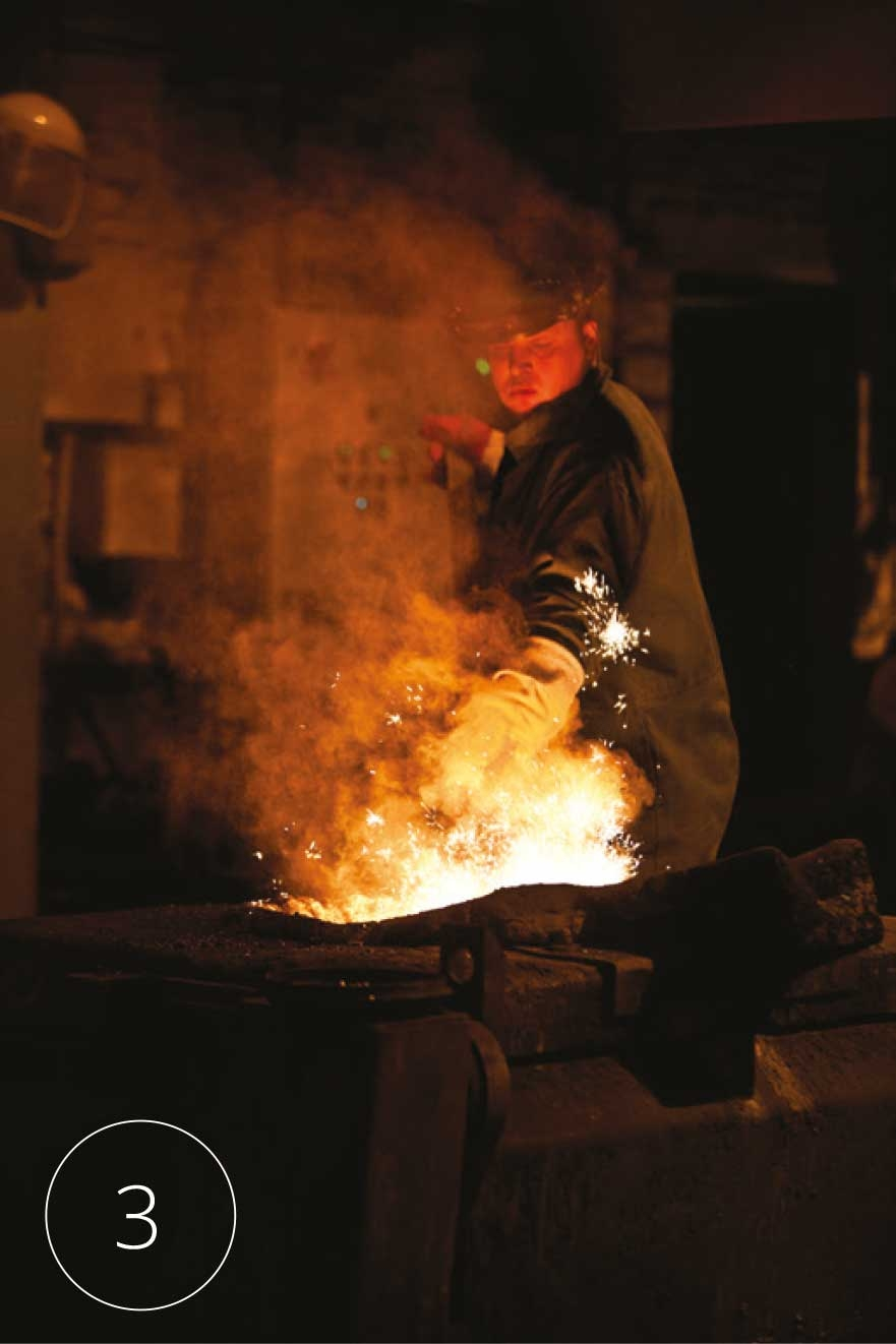 Productieproces Kirkpatrick fase 3: smelten