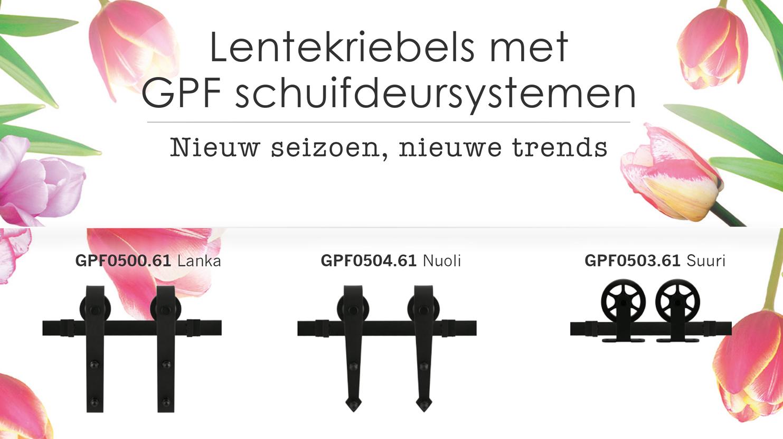 Lentekriebels met GPF schuifdeursystemen
